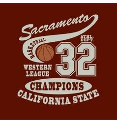Sacramento Basketball t-shirt vector image