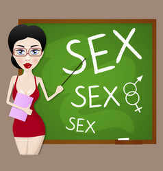 Sexy teacher vector