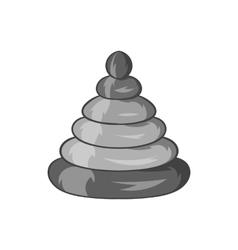 Toy pyramid icon black monochrome style vector image vector image
