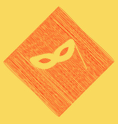 Traditional venetian carnival decorative mask sign vector
