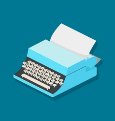 typewriter mechanic isometric vector image