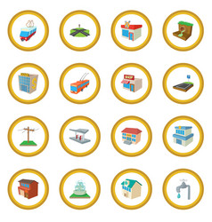 Urban infrastructure icon circle vector