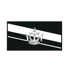Flag of brunei on white background vector