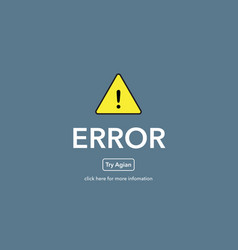 Error try agian on website page vector