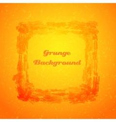 Grunge orange texture frame vector image
