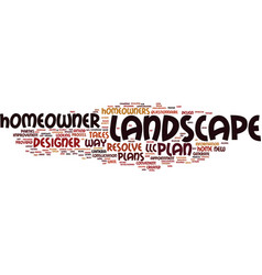 Landscape plans resolved text background word vector