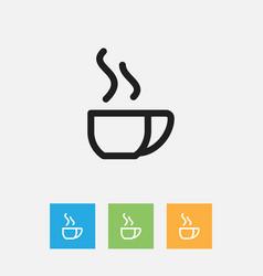 of cook symbol on tea mug vector image