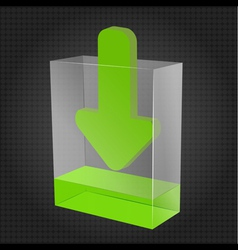 Transparent download box vector