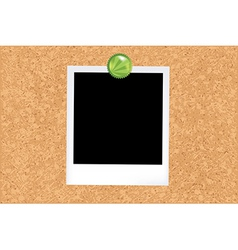 Cork board with photo vector