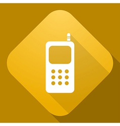 Icon of mobile phone with a long shadow vector