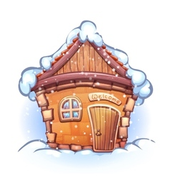 Winter cartoon home vector
