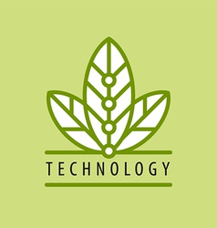 Logo in chip technology petal vector