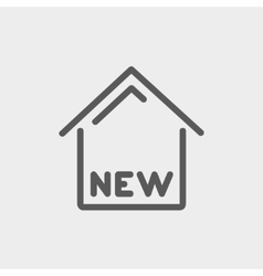 New house thin line icon vector