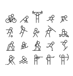 Sport line icons modern style vector