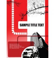 brochure cover vector image