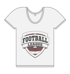Single white t-shirt with football label vector
