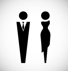 Male and female icon design vector