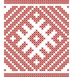 Belarussian embroidery vector