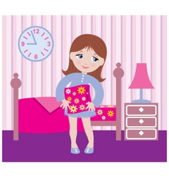 sleepy girl to go to bed vector image