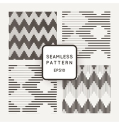 Set of seamless pattern with zigzags of vector