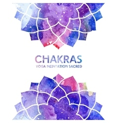 Watercolor chakras background vector