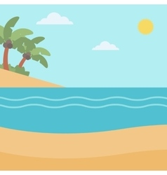 Background of tropical beach and sea vector