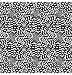 Abstract background in op art style vector