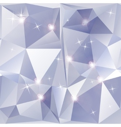 Abstract geometric background of sparkling blue vector image