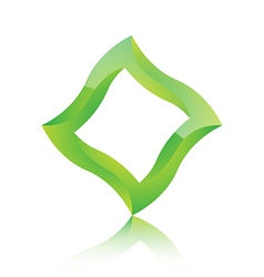 Abstract green square icon vector image