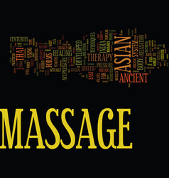 Asian massage therapy text background word cloud vector