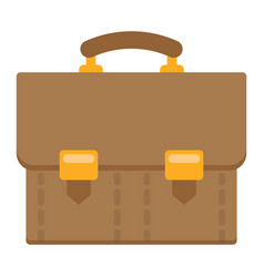 Briefcase flat icon business and portfolio vector