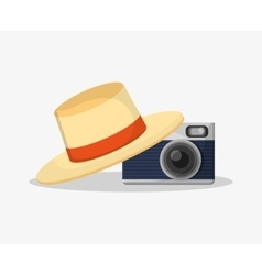 Camera of summer and vacation design vector image vector image