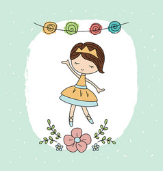 cartoon ballerina girl cartoon ballerina girl vector image