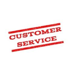 Customer service watermark stamp vector