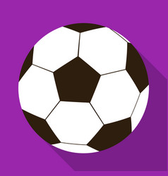 Football ball icon in flat style isolated on white vector