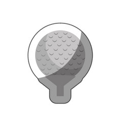 golf sport isolated icon vector image