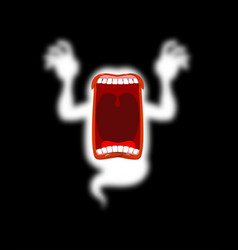 hungry ghost scary spook horrible ghost vector image vector image