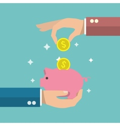 Piggy bank poster vector