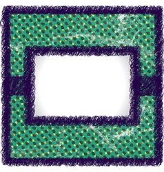 Raster scribbled frame vector image vector image