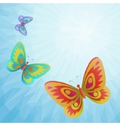 Set butterflies black pictograms vector