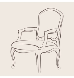 Sketched armchair vector