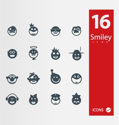 smyley icons vector image vector image
