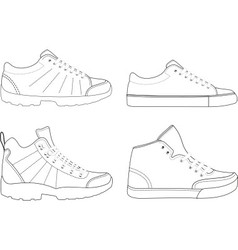sports footwear vector image vector image