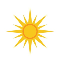 Sun icon light yellow white background vector