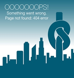Unusual - 404 error - page not found graphic vector