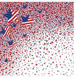 usa background of star and circle vector image vector image