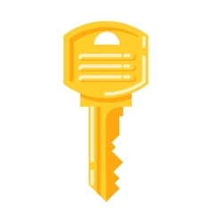 Vintage key isolated icon vector image vector image