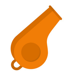 Whistle icon flat style vector