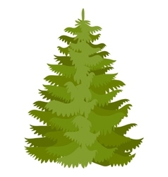 With fir-tree vector