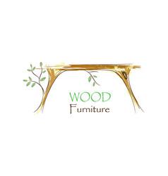 wood interior logo vector image vector image